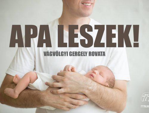 Apa leszek! – A legnagyobb öröm című cikk borítóképe