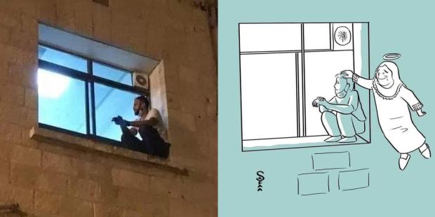 Egy fiatalember minden este felmászott a kórházi ablakhoz, hogy lássa koronavírusos édesanyját